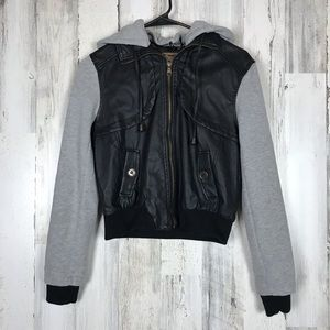 Active USA | Youth Faux Leather Cotton Zip Up